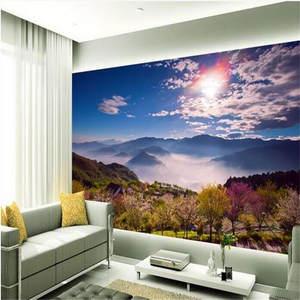 Top 10 silk vision flowers 3d large wall wallpaper custom silk photo wall paper mural hd alpine flowers clouds mightylinksfo