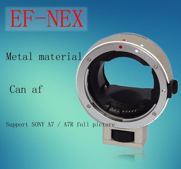 Adapter Auto Focus AF for Canon EOS Lens to   E Mount NEX7/A7/A7R viltrox ef nex iii auto focus lens adapter for canon eos ef ef s lens to sony e nex full frame a7 a7r a7sii a6300 a6000 nex 7