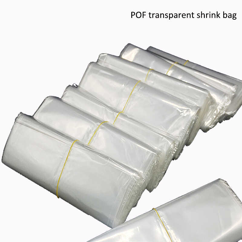 300pcs small Clear Transparent Shrink Wrap Package Heat Seal POF Gift packing storage plastic bags wedding party gift packaging