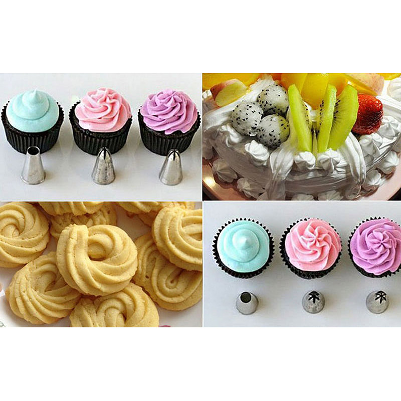 6Pc New Icing Piping Nozzle Cake Decorating Sugarcraft Pastry Tips Tool Set FO