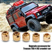 Messing Hex Wielnaaf Simulatie Model Crawler Upgrade Accessoire Messing Hex Wielnaaf voor Traxxas TRX-4 RC Auto(China)