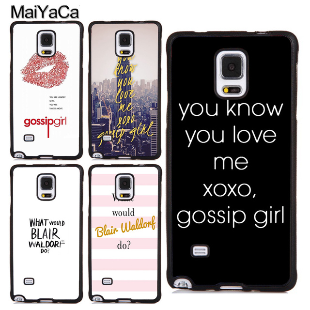 reputable site e8a93 f452a US $3.87 5% OFF|MaiYaCa Gossip Girl Blair Waldorf Quotes TPU Case For  Samsung S4 S5 S6 S7 edge S8 S9 S10 Plus Lite Note 9 4 5 8 Back Cover  Shell-in ...