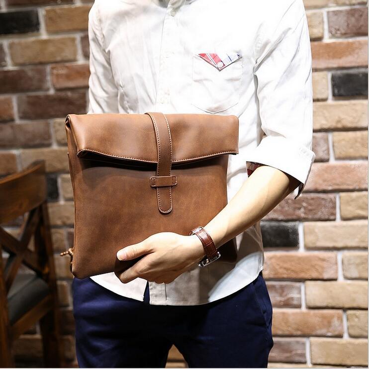 Crazy horse leathe Ipad bagsr men's briefcase Men's messenger bag Men leather shoulder bag 4