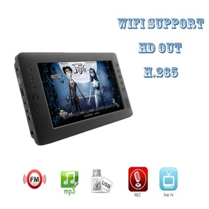 Small Portable 9inch Mini TV LED Display HD out AV TV support wifi USB  Mini Wide Screen LCD Television For car