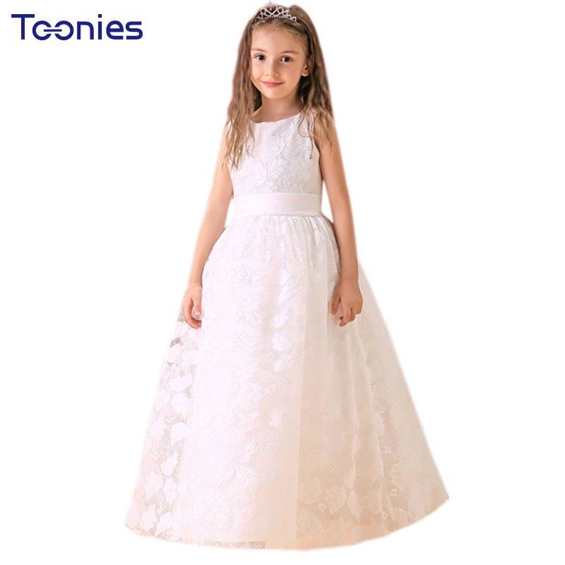 Kinder Lange Brautkleider Mädchen Party Taufe Kleidung