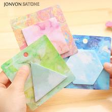 Jonvon Satone 5pcs Creative notebook Easy Shape Paste Personalized Painting Geometry Sticky Notes Cute Office Supplies