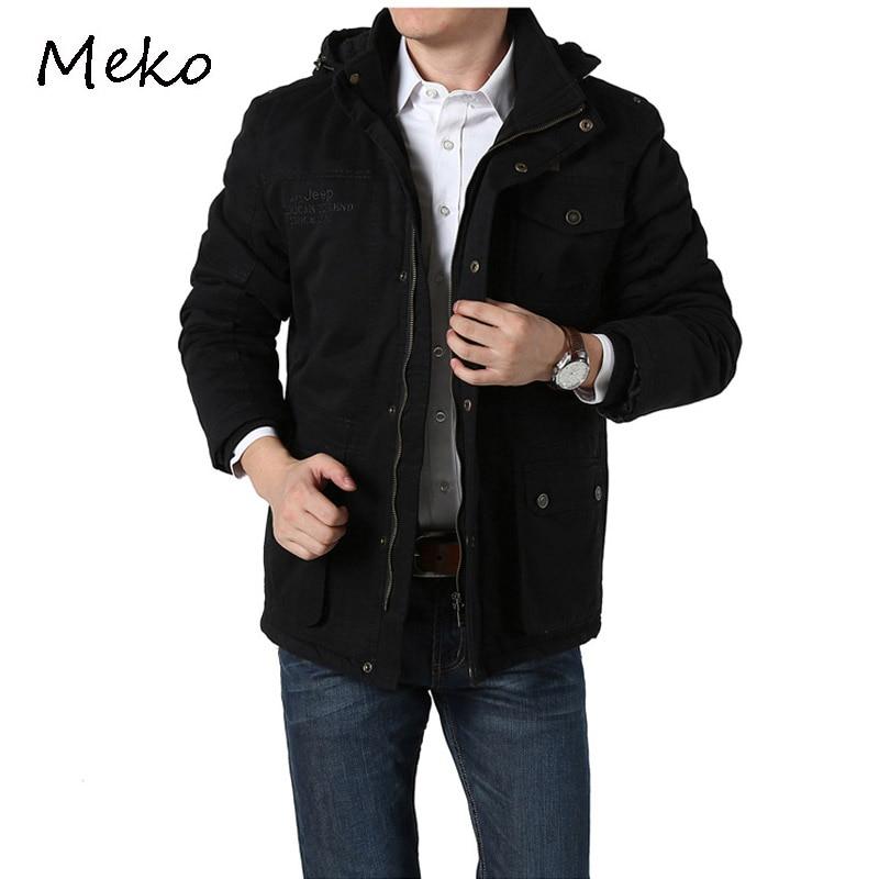 Afs Jeep Winter Jacket Men's Winter Overcoat Thickening Faux Plush Coat Warm Jackets Men's Warm Greatcoat Jacket For Men MC019