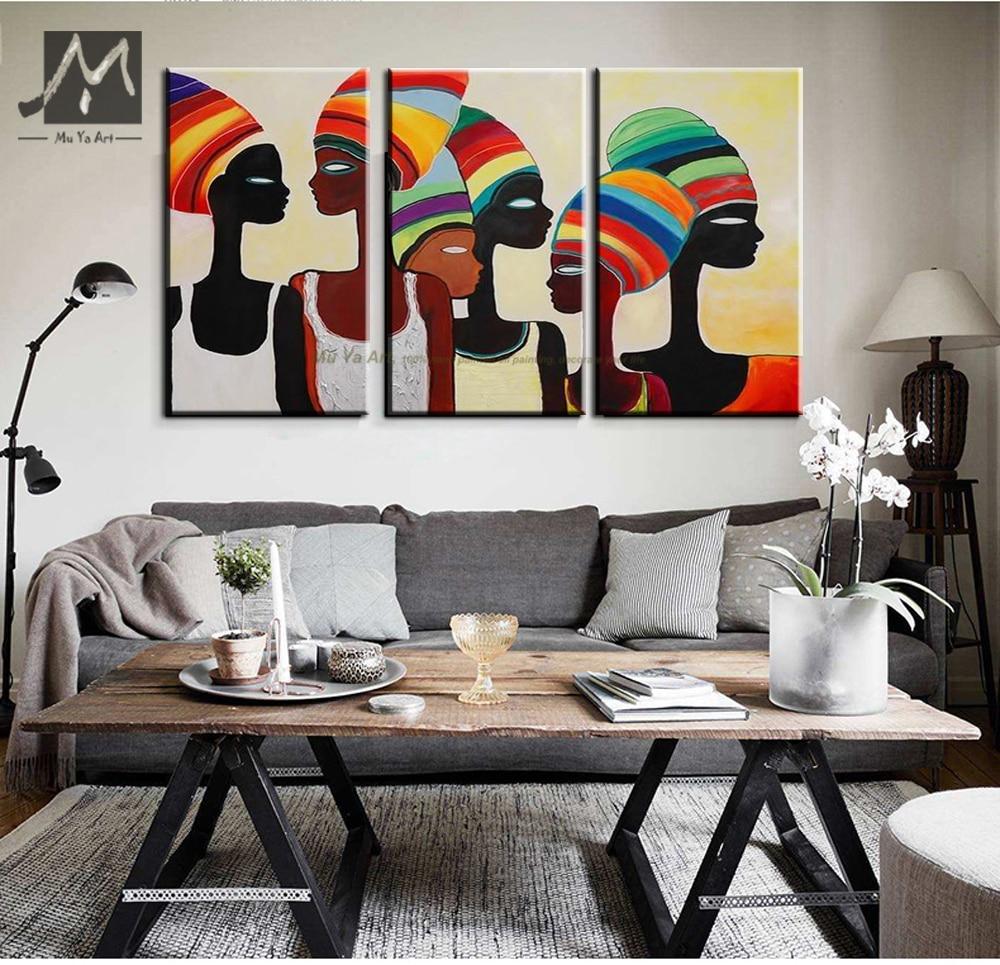 MUYA dekorative wandmalerei afrikanische frau malerei moderne ...