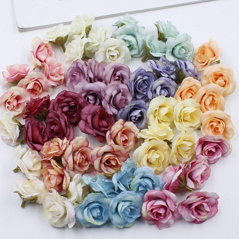 10 шт. см 3 см Мини Роза ткань искусственный цветок для Свадебная вечеринка украшения дома комнаты свадебные туфли шляпы аксессуары Шелковый цветок