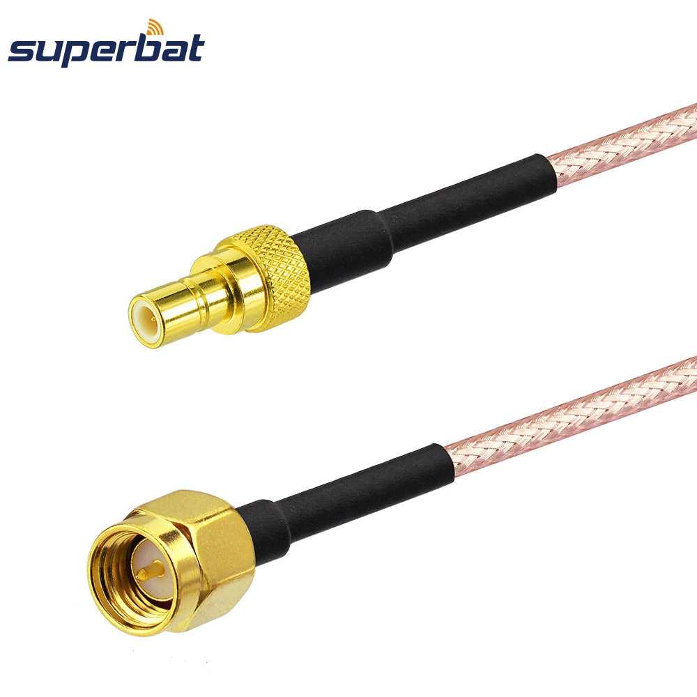 Superbat SMA Male Plug To SMB Male Plug Straight Connector Pigtail Coaxial Cable RG316 40cm for Car/GPS/GSM/Wifi Antenna Communication Cables    - title=