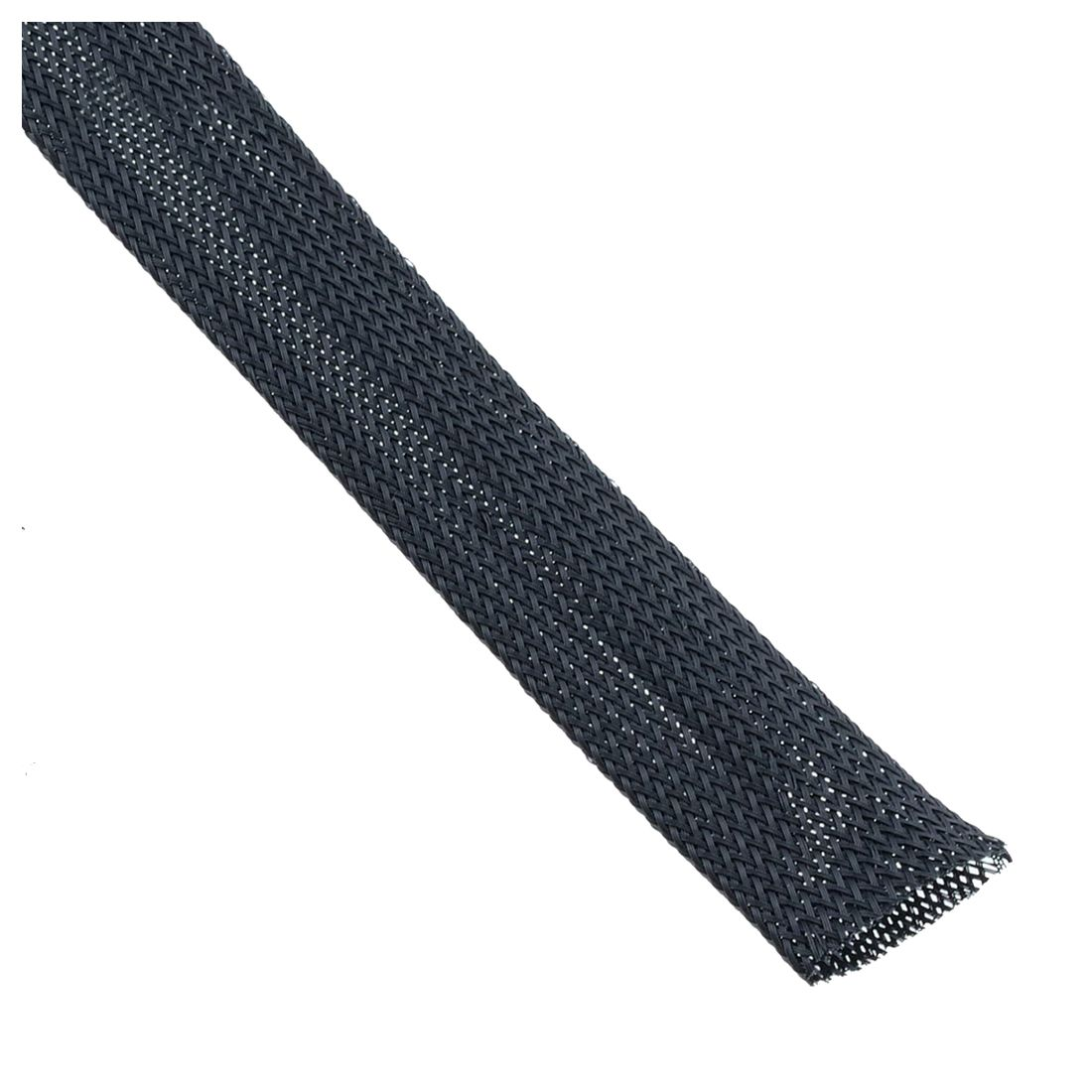 Black Braided Cable Sleeving - Wire Harness, Marine, Auto, Sheathing, 15mm Length:5m