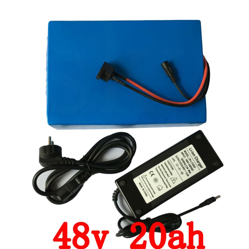 48V 20AH 2000W e-Bike Battery Scooter Battery 48v Lithium Bicycle Battery 48V with 54.6v 2A charger,50A BMS 48v Battery Pack 1800w lithium battery 48v 40ah for electric bicycle drive motor 48v with 54 6v charger and 50a bms 48v ebike battery diy bike