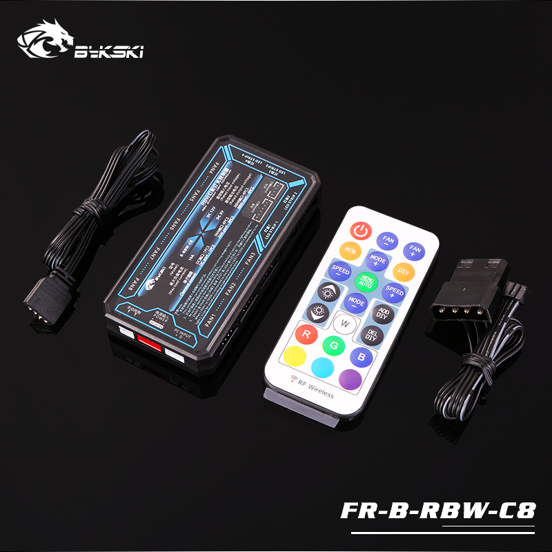 Bykski FR-B-RBW-C8-V3 RBW(5v 3pin) Lighting Sync Controller For Bykski's RBW Lightings Synchronization To Motherboard