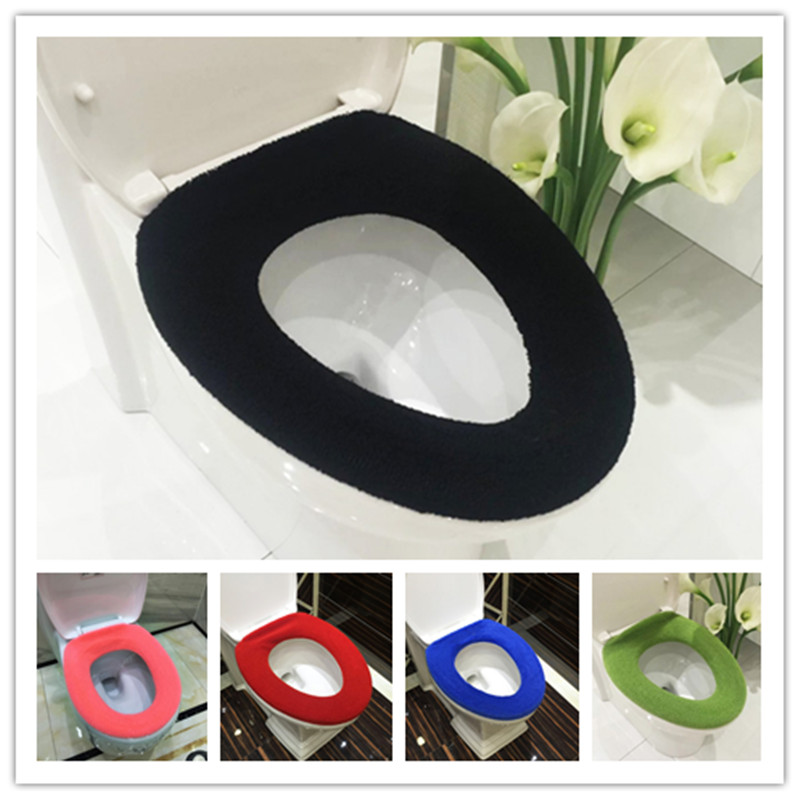 Comfortabele zachte veelkleurige badkamer Toilet set Verdikking wasbare Toiletbrillen Cover Toilet Mat Winter Warm O Ring Potty Sets