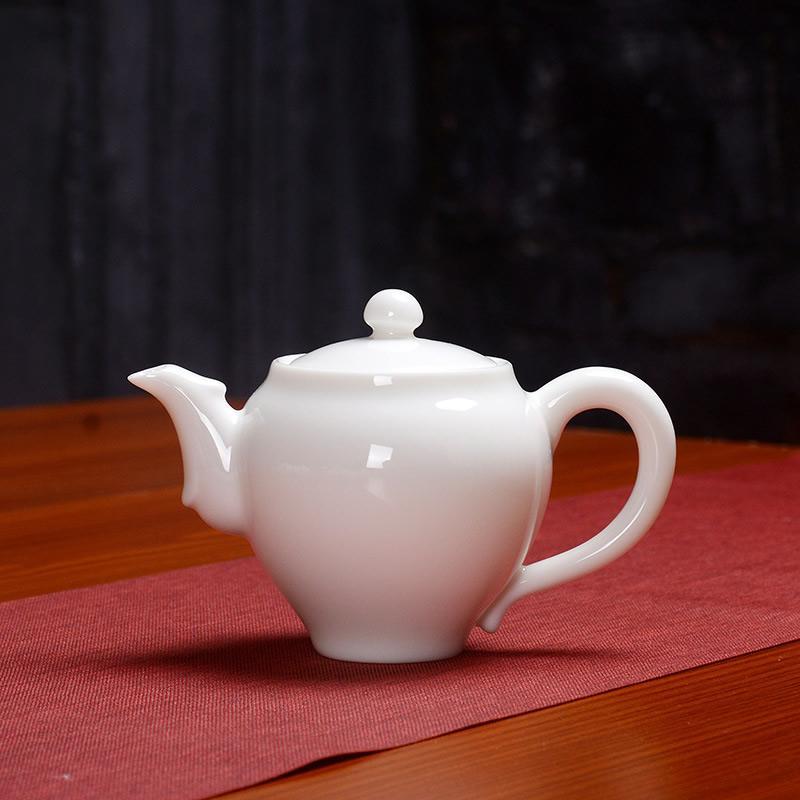 White Ceramics Master Teapot Chinese Handmade Kung Fu Tea Set Teapots Chinese Ceramic Clay Kettle