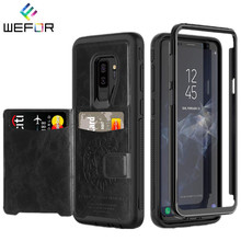 Luxury Wallet Cover Fundas Case For Samsung Galaxy S9 S9Plus Note 9 Leather Hybrid Tough Slide Card Holder Capinha