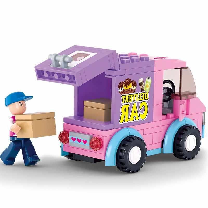 Gli Amici della ragazza Consegna Auto Spuntino Auto Compatibie Blocchi di Costruzione Del Giocattolo Kit FAI DA TE Educativi Per Bambini Regali Di Natale