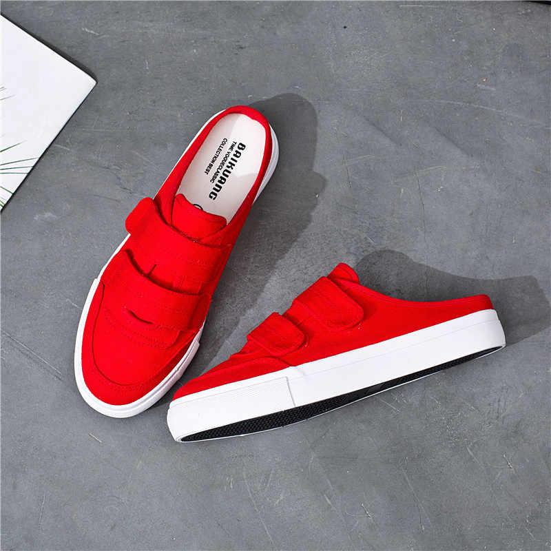 Women Red Shoes Vulcanized Slip on