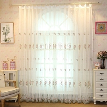 Bedroom Kitchen Sheer Curtains Embroidered Tulle Window Modern Curtains For Living Room On The Window Curtains Fabric For Salon