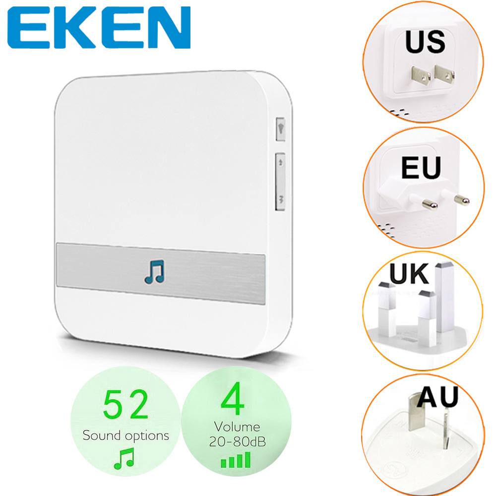 Smart Indoor Door Bell Chime WiFi Doorbell AC 110-220V US EU UK AU Plug XSH App For EKEN Chime V5 V6 V7 For B30 B10 B50 B60 B70