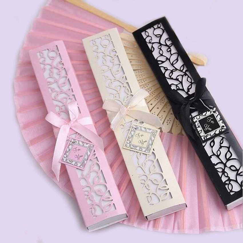 30pcs lot Custom Folding Fan Personalized Bride Groom s Name Date Silk Wedding Dance Hand Fan