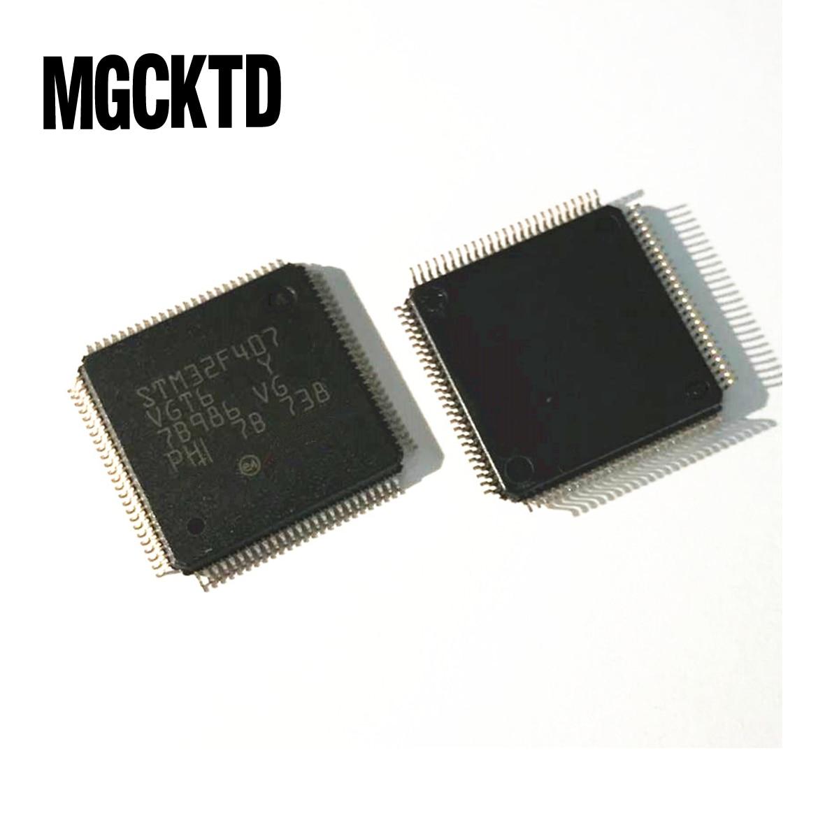 100% New 2pcs STM32F407VGT6 STM32F407 ST MCU 32BIT 1MB FLASH 100LQFP