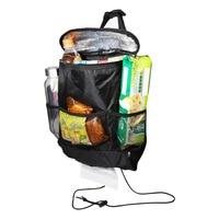 W Car Auto Storage Bag Oxford Aluminum Foil Hanging Bag Seat Back Drinks Cooler Organizer Functional