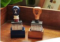 Min Order Is 6 2 Styles DIY Scrapbooking Vintage Wooden Roll Date Stamps Photo Album