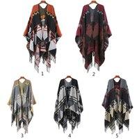New Brand Design Bohemian Tassel Scarf Pashmina Women'S Winter Warm Scarves Shawls Female Longer Thicken Wild Cape Ponch