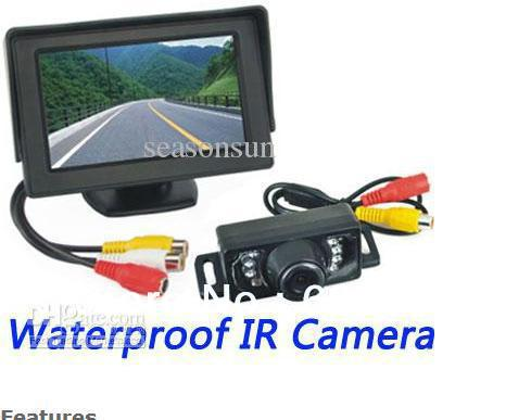 Wholesale - 4.3 inch TFT LCD Car Rear View Monitor IR Night Waterproof Parking Backup Camera System