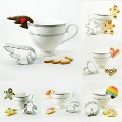 LINSBAYWU 1 Pcs Funny DIY Biscuits Cutter Cup Hanging Cookies Baking Tools Mould Mug Decor Mould
