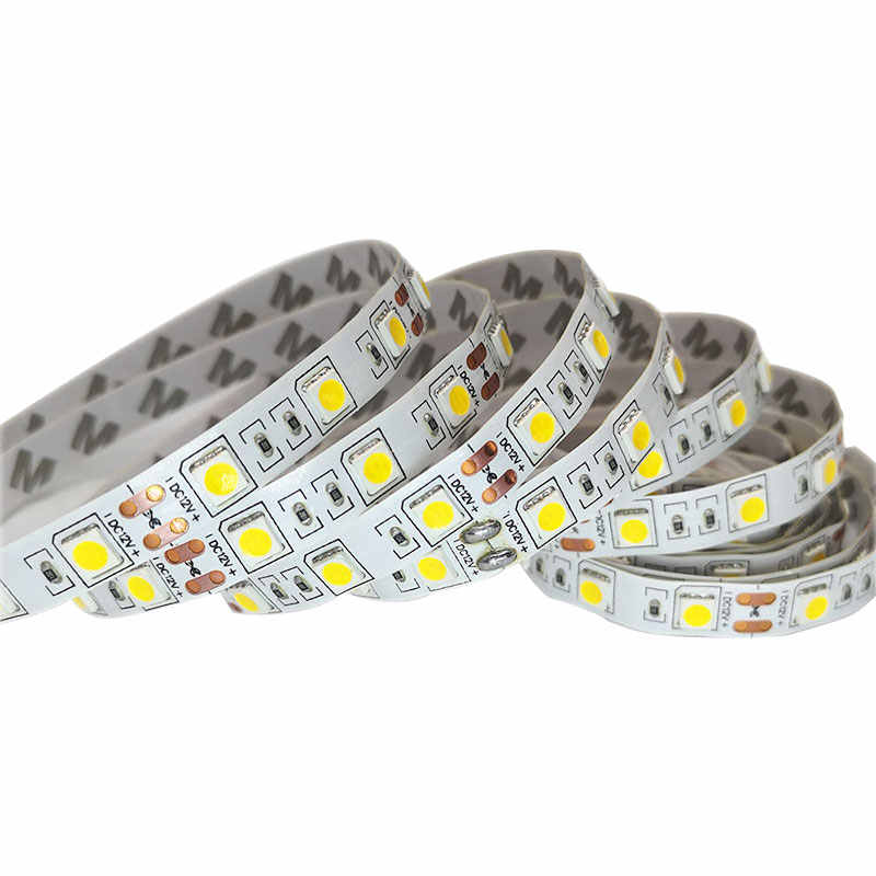 SMD 5050 DC12V RGB LED Strip Light 0.5M 5M Lampu LED RGB LED Pita Fleksibel 44Key Power Remote adaptor Set Diode Pita