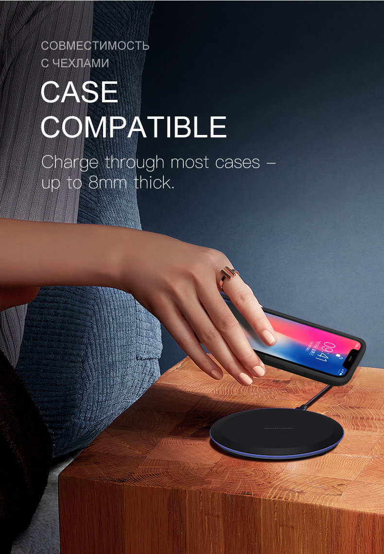 ESVNE 5W Qi Wireless Charger for iPhone X Xs MAX XR 8 plus Fast Charging for Samsung S8 S9 Plus Note 9 8 USB Phone Charger Pad-in Wireless Chargers from Cellphones & Telecommunications on Aliexpress.com | Alibaba Group 6