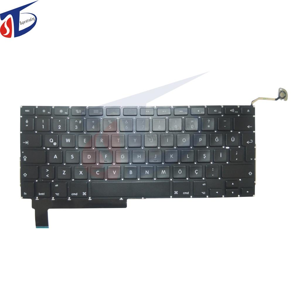 10pcs lot A1286 Turkey keyboard for font b macbook b font pro 15 A1286 Turkish keyboard