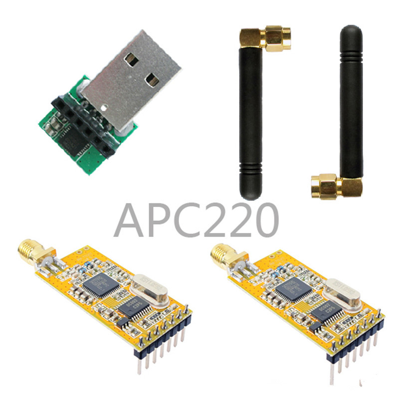 Wireless transmission module APC220-43 suit / with usb nrf24le1 wireless data transmission modules with wireless serial interface module dedicated test plate