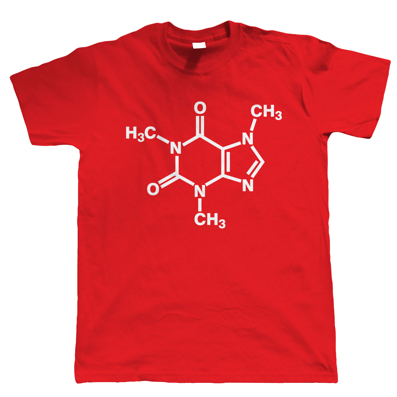 Caffeine Molecular Mens Funny Geek Video Game T-Shirt Men Tee Shirt 2018 Summer 100% Cotton Fashion T Shirt Brand Top Tees