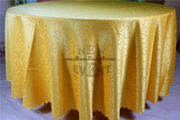 New Design For 2016 Gold Hook Flower Jacquard Tablecloth Table Linen For Wedding Party Home Decorations