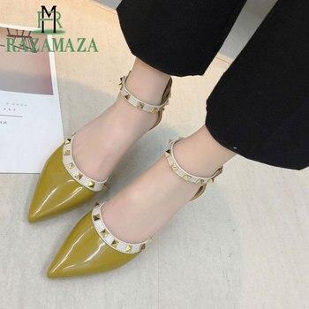 2e14dde9ee08 RAZAMAZA/новые женские босоножки на высоком каблуке Летняя обувь с острым  носком и ...