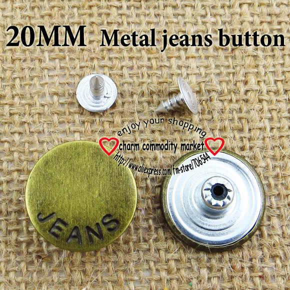 30 Pcs 20 Millimetri Lettera di Tono Del Bronzo in Metallo Jeans Button Pulsanti Rotondi 20 Millimetri Abbigliamento Accessori JMB-153