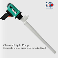 950W Electrical Chemical Liquid Pump Engineering Plastic Strong Corrosive Liquid Use Infusion Pump PRR Plastic Barrel