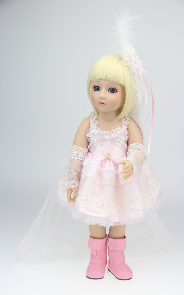 45cm New SD/BJD Vinyl Reborn Baby Doll Toys Handmade Lifelike Pink Girl Dolls Birthday Gift Play House sd bjd 1 4 doll toy for kids birthday gift vinyl lifelike animation pricess american girl dolls play house girl brinquedos
