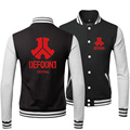 2017 Осень и Зима Defqon 1 мужская Бейсбол Куртки Мода Пальто Для Любителей Руно XXL XXXL