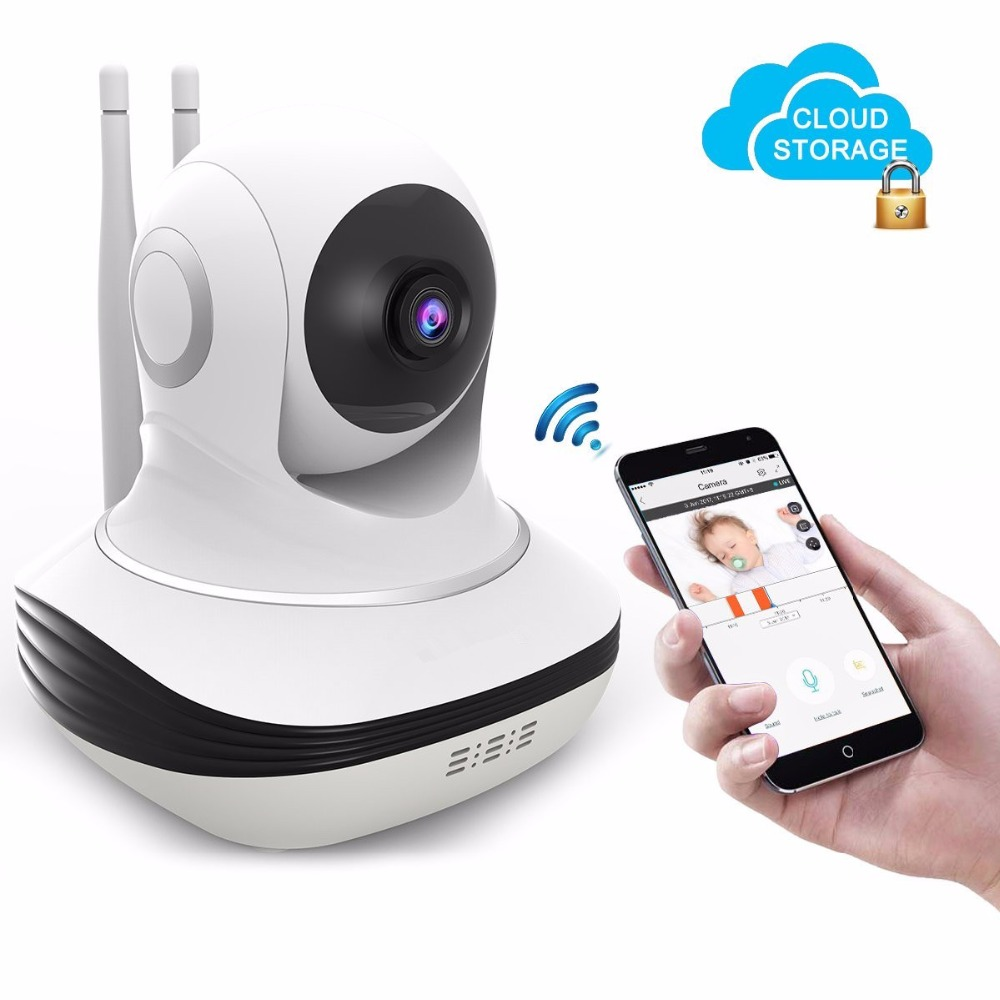 Home Wi-fi Wireless Camera  Mini HD 720P IP Security Home Surveillance Baby Monitor Cloud Storage Night Vision Motion Dectection 720p hd wifi camera p2p wireless baby monitor security camera cloud storage night vision camera compatible with sensor detector