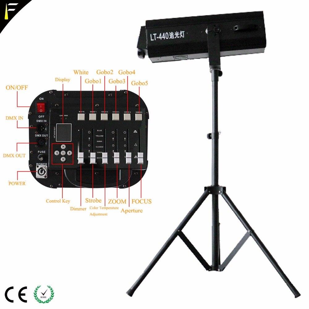 Dimming Follow Spot Light LED 440 w Strobe Theater Spotlights with Display Fades DMX Control Professional Spot follow Lighting цены