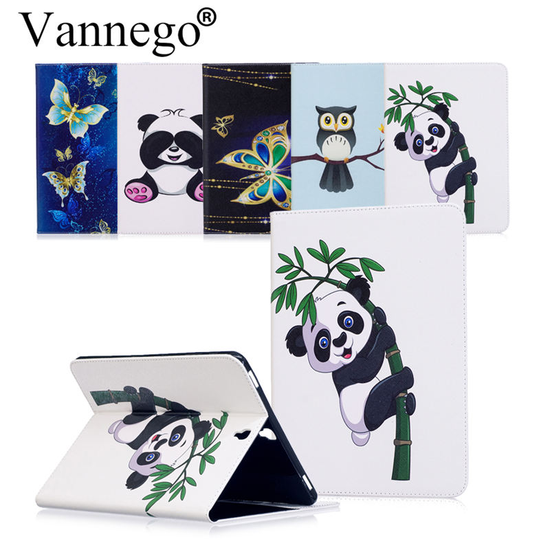 Vannego Case for Samsung Galaxy Tab S3 9.7 T820 T825 Business With HandStrap PU Leather Hold Smart Cover Stand Book Cases Funda