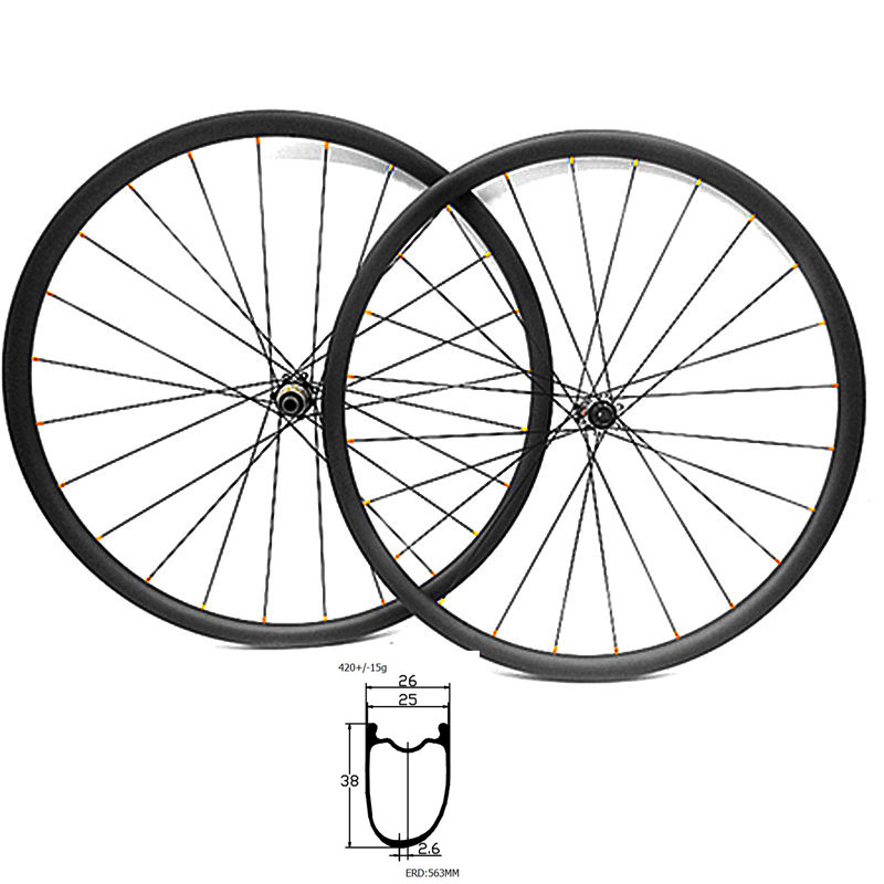 700c road disc wheelset 38mm depth 26mm Asymmetry tubeless disc road bike wheel D411 D412 100x12