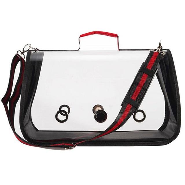 IALJ Top Outdoor Travel Transport Parrot Cage Bird Carriers Accessories Pvc Transparent Breathable Parrot Handbag