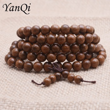 Yanqi High Quality Tibetan Mala Buddha bead bracelet Mara prayer beads natural wooden bead bracelets men's bracelets Rosary image