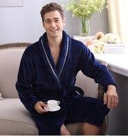 Épaissir Corail flanelle Peignoir Hiver Automne Casual Robe de Chambre Longue Peignoirs Femmes Hommes Vêtements De Nuit Robes