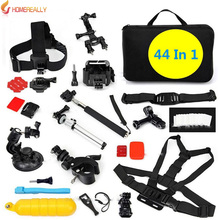 цена Gopro Accessories Family Kit For Sony HDR-AS30V HDR-AS100V AS200V AS20V X1000V Gopro Hero 5/4/3+/3 SJ4000 SJ5000 Action Camera